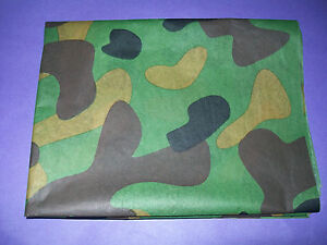 **ARMY CAMOUFLAGE DPM** BIRTHDAY TISSUE WRAPPING PAPER 3 x LARGE SHEETS 50 x 70