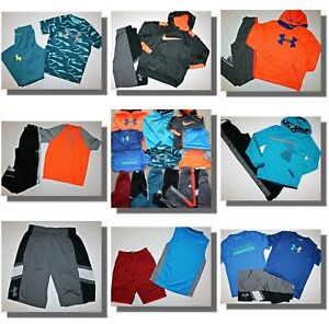 LOT OF UNDER ARMOUR & NIKE  activewear YLG Large 12 14 Pants Hoodies Shorts