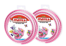 Zuru MAYKA Set of 2 Toy Block Tape Large 2M 6.5 Feet in Pink Lego Compatible
