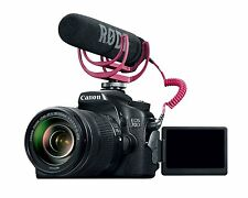 Mint Canon EOS 70D Video Creator Kit w/18-135mm Lens, Rode VIDEOMIC GO, 32GB SD