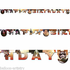 Star Wars Episode VII 7 The Force Awakens Party Birthday Jointed Letter Banner