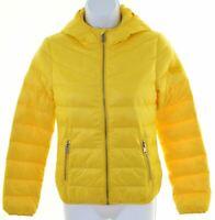 DIESEL Boys Padded Jacket 11-12 Years Yellow Nylon  HY26
