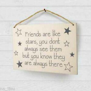 FRIENDSHIP Plaque BEST FRIEND Hanging Wall decoration slogan GIFT