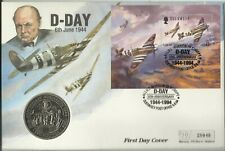 GB / GUERNSEY QE11 1994 D-DAY TWO POUNDS COIN COVER