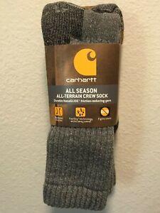 Carhartt All Season All-Terrain Men's Crew  Socks 2 pair M