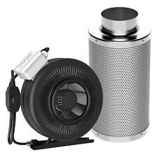 "VIVOSUN 6"" inch Inline Duct Fan w/ Controller & Air Carbon Filter Scrubber Combo"