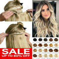 Thick Double Weft Clip In Real Remy Human Hair Extensions Full Head highlight