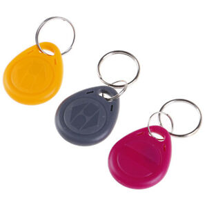 10Pcs EM4305 T5577 Duplicator Badge Copy 125khz RFID Tag Card Key Ring JGM_UK