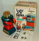 """#1960s REMCO LOST IN SPACE 12"""" BATTERY-OP MOTORIZED ROBOT IN BOX WORKING LOT#E86"""
