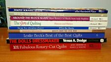 Lot of 10 Quilting Books plus The Dolls Dressmaker Pattern Book