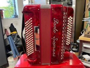 Immaculate paolo soprani accordion 4 voice diatonic - New condition!!