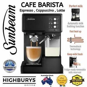 SUNBEAM Coffee Machine with Milk Frother Espresso Cappuccino Cafe Barista NEW