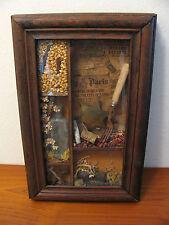 Antiques History Shadow Box Wood Railroad Railway Wells Fargo Memorabilia 1900s
