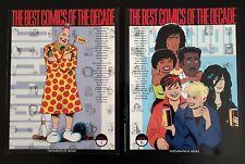 The Best Comics of the Decade 1980s 2 vols BOOK Graphic Novel Comic