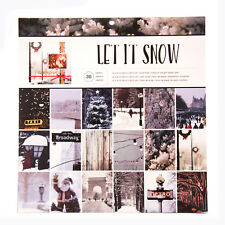 American Crafts Holiday Single Sided Paper Pad Let It Snow