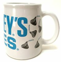 Hershey's Kisses Chocolate Candy 14 Oz Coffee Mug Cup White Blue Lettering