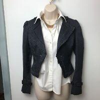 Alice Temperley Blazer Jacket Womens Size 10 Blue Polka Dot Alice by Temperley
