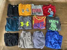 Large lot of Boys Athletic clothes. Large. UNDER ARMOUR, NIKE, shirts & shorts.