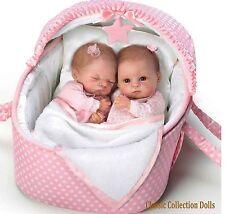 """Ashton Drake """"Lullaby twins Heather et Hannah"""" - 14 """"réaliste poupées de bébé-NEUF"""