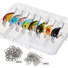 Lot 8Pcs Plastic Fishing Lures Bass CrankBait Crank Bait Tackle 4.5cm/4g Hook