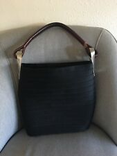 Kenzo Pagodon Black Basket Bag Purse W/straw String Closure with scarf detail