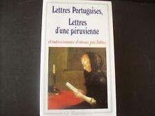 Lettres Portugaises, Lettres d'une Péruvienne (French Edition)1983 by Pascal -Jo