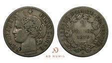 2 francs Cérès 1870 A Argent France