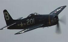 Giant 1/6 Scale American WW-II Grumman F8F Bearcat Fighter Plans, Templates