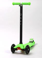 Maxi Scooter por Uber Scooter (Maxi/Micro Estilo) Verde Nuevo, En Caja De Inclinación N Turn