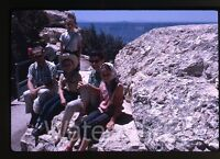 1962 Kodachrome photo slide Family on vacation trip