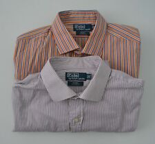 Lot of 2 Polo by Ralph Lauren Regent classic fit Long Sleeve Shirts Sz 18 34-35