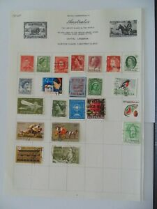 PA 400 - Page Of Mixed Australia Stamps