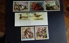 Equatorial Guinea stamps - cats,ducks,Asian mammals nice postmark