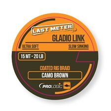 PROLOGIC LAST METER GLADIO LINK ULTRA SOFT SLOW SINKING COATED BRAID CAMO BROWN