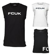 MENS FCUK FRENCH CONNECTION VEST TOP GYM, HOLIDAYS GENUINE 100% COTTON BARGAIN