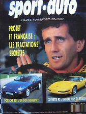 revue SPORT AUTO 1991 STORY CORVETTE + LT1 / PORSCHE 944 TURBO CAB / 600 SEL