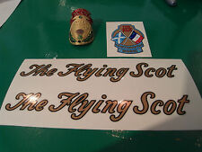Vintage FLYING SCOT decals AND METAL HEAD BADGE! Full set, beautiful art & paint