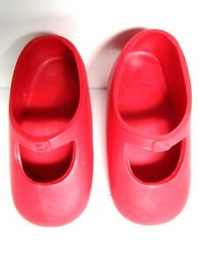 "1972 IDEAL RED DOLL SHOES Fit 16"" Vinyl Shirley Temple Marked 7M-5347-02 Ideal"