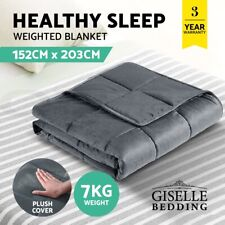 Giselle Minky Weighted Blanket Heavy Gravity Blanket Kids Adult - 2.3/ 5/ 7/ 9KG