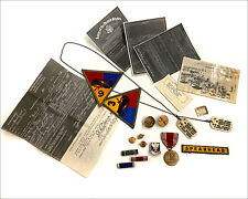 Estate WW2 Dog Tags, Documents, Photo, Medals, Patches - US Army - WWII -