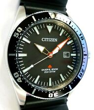 Citizen Promaster Eco-Drive Diver's 200M - EXCALIBUR CUSTOM 3D-WAVE RUBBER - NEW