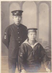 OLD VINTAGE PHOTO ASIA JAPAN JAPANESE MILITARY UNIFORM NAVY SAILOR MEN AA424