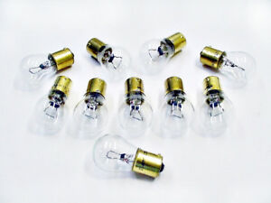 Box of 10 #1156 Clear Parking Light Bulbs Backup Lights Lamps BA15S Bayonet Ford