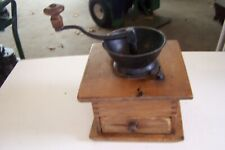 ANTIQUE/VINTAGE WOOD & CAST IRON COFFEE GRINDER-TABLE TOP
