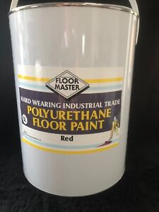 FLOOR MASTER GARAGE/WORKSHOP FLOOR PAINT 5LT RED Used By the Professionals.