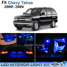 12pcs Pure Blue Interior LED Lights Package Kit For 2000-2006 Chevy Tahoe