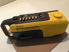 Sony Sports Water Resistant Cfm-101 Boombox Am/Fm Radio Cassette Player For Part