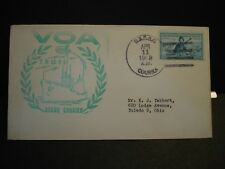 USCGC COURIER WAGR-410 Naval Cover 1953 VOA VOICE of AMERICA Cachet COLD WAR