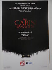 THE CABIN IN THE WOODS - Movie Poster - Flyer - 13.5x20 - CHRIS HEMSWORTH