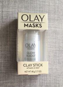 🙀 NIB RARE Olay Masks Glow Boost White Charcoal Mask Stick Great 4 Men 2!